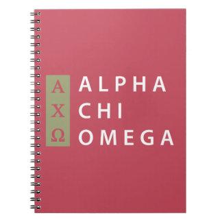 Carnet Alpha logo empilé par | d'Omega de Chi