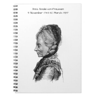 Carnet Amalie von Preussen d'Anna