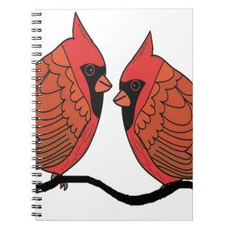 Carnet Amants cardinaux d'oiseau