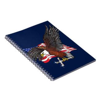 Carnet Américain Eagle avec la croix