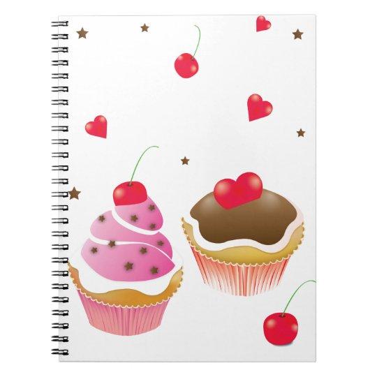 """carnet """"Amour de cupcakes"""""""