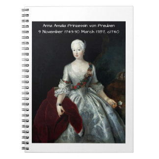 Carnet Anna Amalia Prinzessin von Preuben c1740
