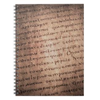 Carnet antique de manuscrit
