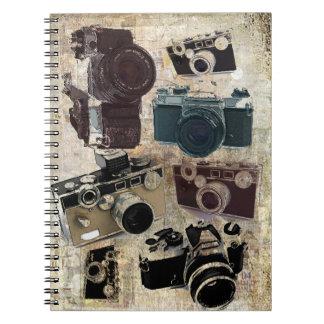 Carnet Appareil-photo grunge de cru de photographie de