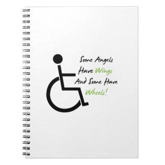 Carnet Appui d'amour de fauteuil roulant de cadeau de