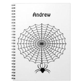 Carnet Araignée et toile d'araignée