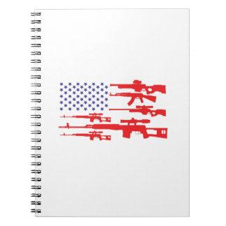 Carnet Arme à feu patriotique de fierté des Etats-Unis de