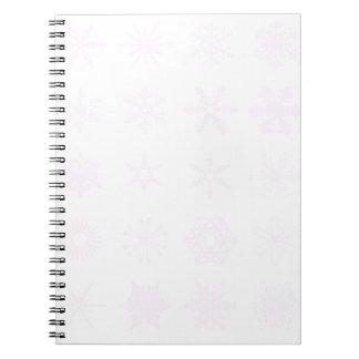 Carnet Arrière - plan rose de flocons de neige