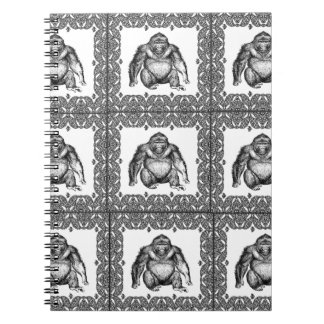 Carnet art de cube en gorille