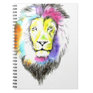 Carnet art de lion
