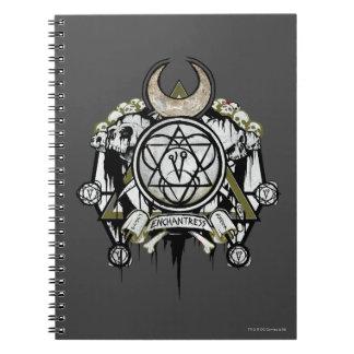 Carnet Art de tatouage de symboles d'enchanteresse du