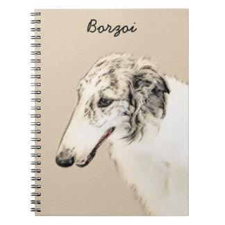 Carnet Art original de peinture de chien de barzoï