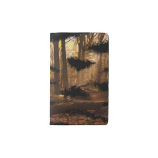 carnet artsy de belle forêt artistique de peinture
