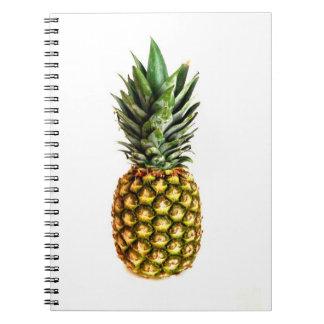 Carnet avec la copie de photo d'ananas