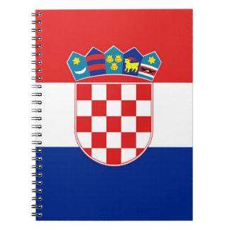 Carnet avec le drapeau de la Croatie