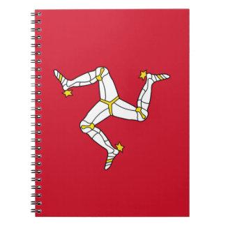 Carnet avec le drapeau d'île de Man, Royaume-Uni