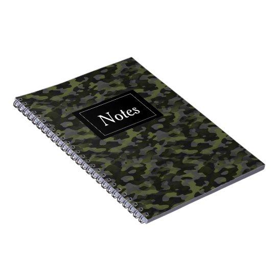 Carnet avec photo Camouflage