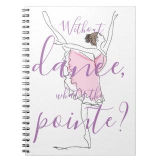 Carnet Ballerine //sans danse ce qui est le pointe ?