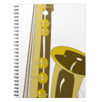 Carnet Bande dessinée de saxophone
