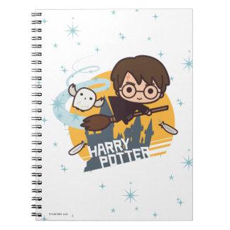 Carnet Bande dessinée Harry et vol de Hedwig après