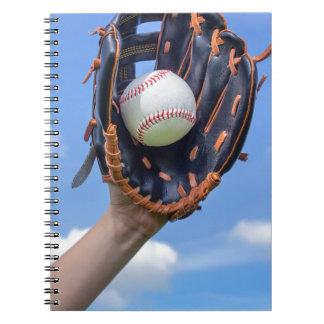 Carnet Base-ball de participation de bras avec le gant