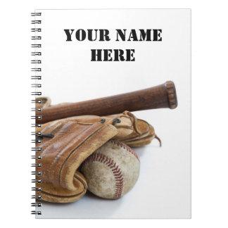 Carnet Base-ball vintage et batte