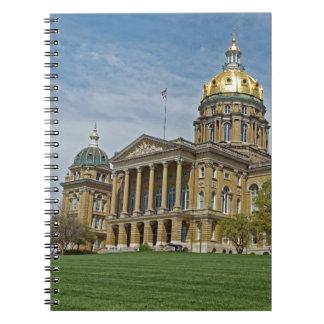 Carnet Bâtiment de capitol d'état de l'Iowa