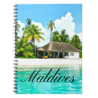 Carnet Beau paysage des Maldives