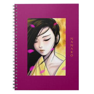 Carnet Belle princesse Artwork Personalized d'Anime