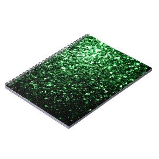 Carnet Belles étincelles de scintillement de vert de