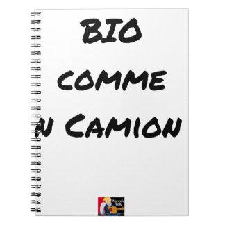 Carnet BIO COMME UN CAMION ? - Jeux de mots