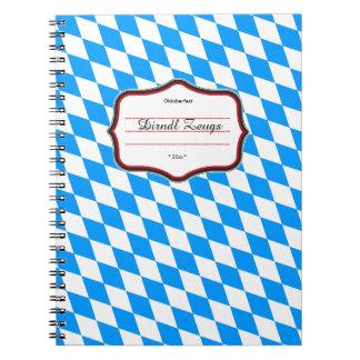 Carnet Blanc bleu de motif pur bavarois