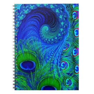 Carnet Bleu de paon