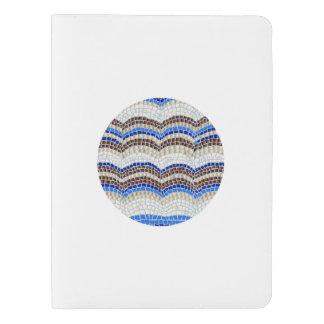 Carnet bleu rond d'extra large de mosaïque