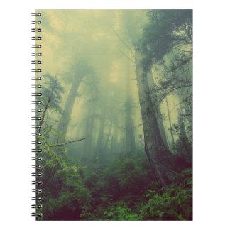Carnet Bloc-notes de brume de forêt
