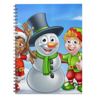 Carnet Bonhomme de neige de Noël de bande dessinée et