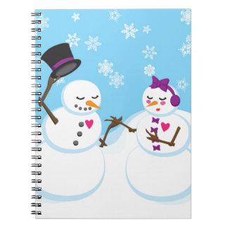 Carnet Bonhomme de neige et Snowgirl Romance