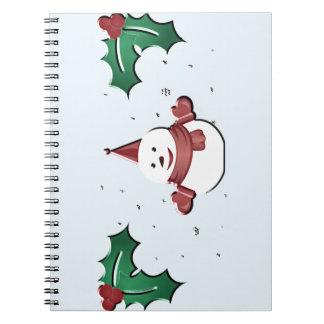 Carnet bonhomme de neige sous le gui