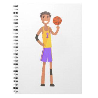Carnet Boule de rotation de joueur de basket sur une