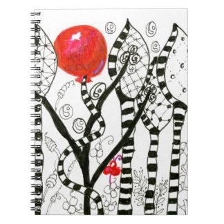 Carnet Bruit de forêt de fantaisie de Zendoodle de ballon