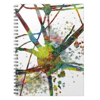 Carnet Cadeau abstrait médical de synapses