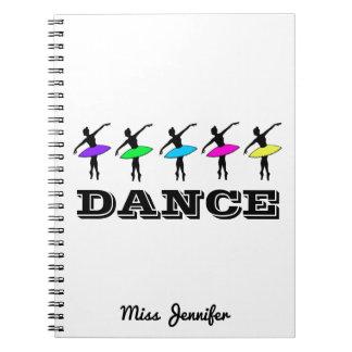 Carnet Cadeau de professeur de danse personnalisé par