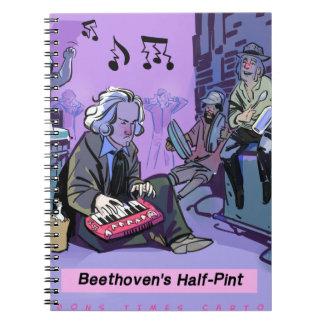 Carnet Cadeau drôle de demi de pinte de Beethoven