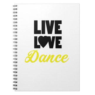 Carnet Cadeau vivant de danseur de danse de danse d'amour