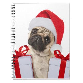 Carnet Cadeaux de carlin - chien Claus - carlins drôles -