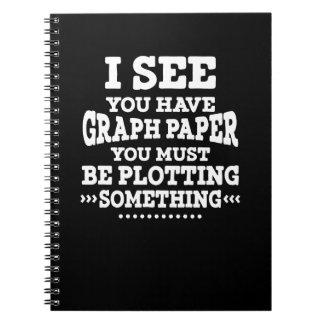 Carnet Calembour de papier de graphique de maths