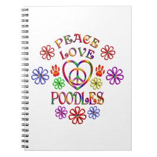 Carnet Caniches d'amour de paix