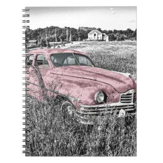 Carnet Capot vintage de moteur de phare de voiture