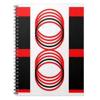 Carnet Carrés noirs rouges 4Alex de cercles