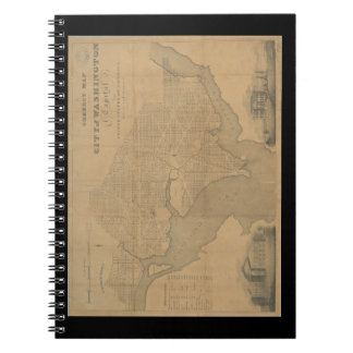 Carnet Carte 1820 de Washington DC de cru